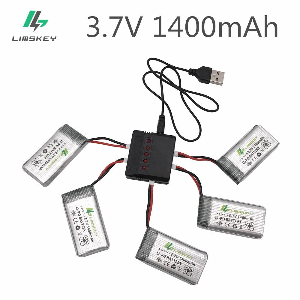 1400 mAh 3,7 V batería LiPo USB + enchufe AC cargador para SYMA X5SW X5SC X5 X5C RC Drone Quadcopter batería de repuesto de piezas