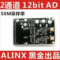 High Speed 12 Bit Dual Channel AD Module Supporting Industrial Grade FPGA Black Gold Development Board