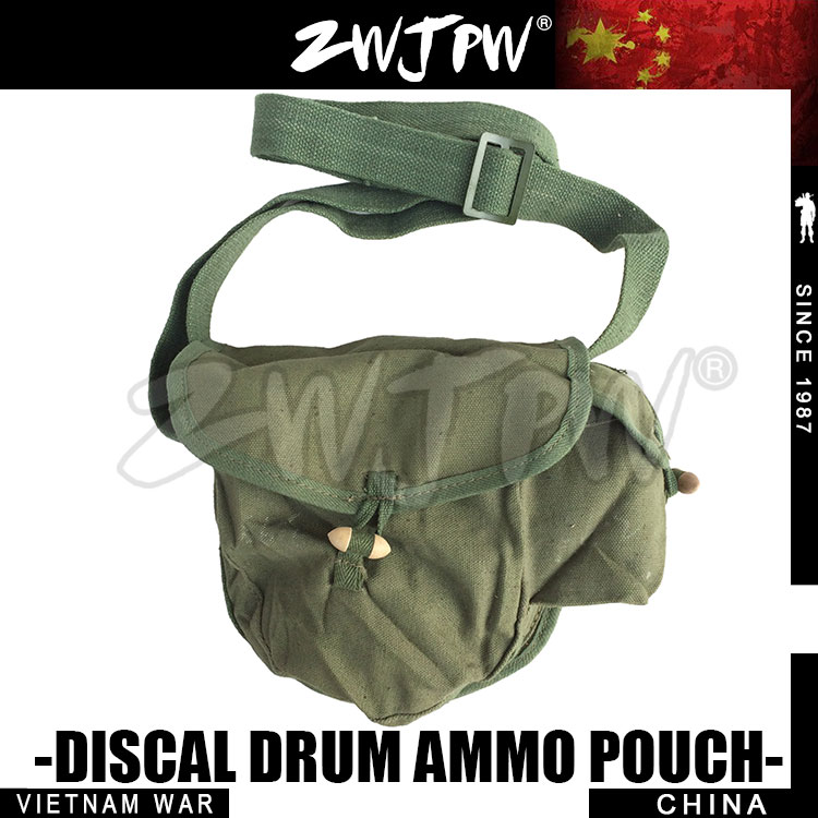 Just Original Surplus China Aamy Type 56 Drum Pouch With Side Bag Bullet Hiking Camping Hunting Cn/10402