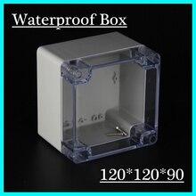(1 шт./лот) 120*120*90 мм ясно, abs Пластик IP65 Водонепроницаемый корпус ПВХ распределительная коробка электронного проекта готовальни