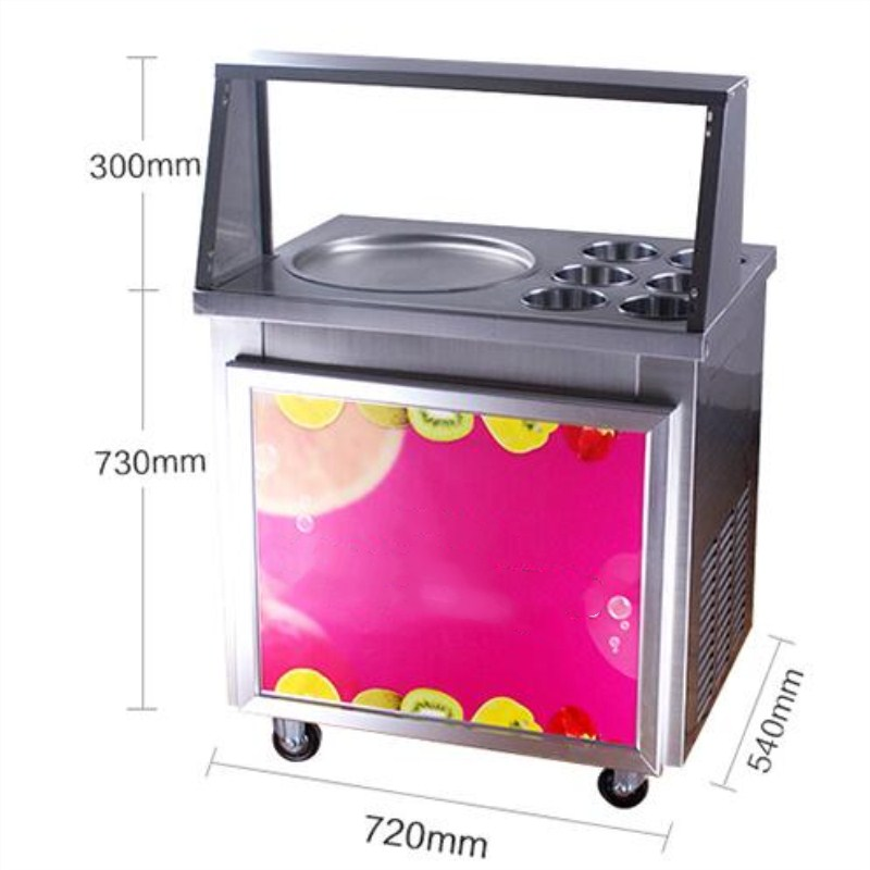 2017 update style fried ice cream roll machine,LED light ice pan machine,220V fried ice machine with dust cover free shipping 2017 ce approved thai style fried ice cream roll machine single pan fry ice machine fast cooling ice pan machine with dust cover