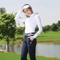 Brand Summer sunscreen Slim Shirt Women full sleeve cool breathable Smooth Sun protection Clothing golf sportswear soft Jerseys