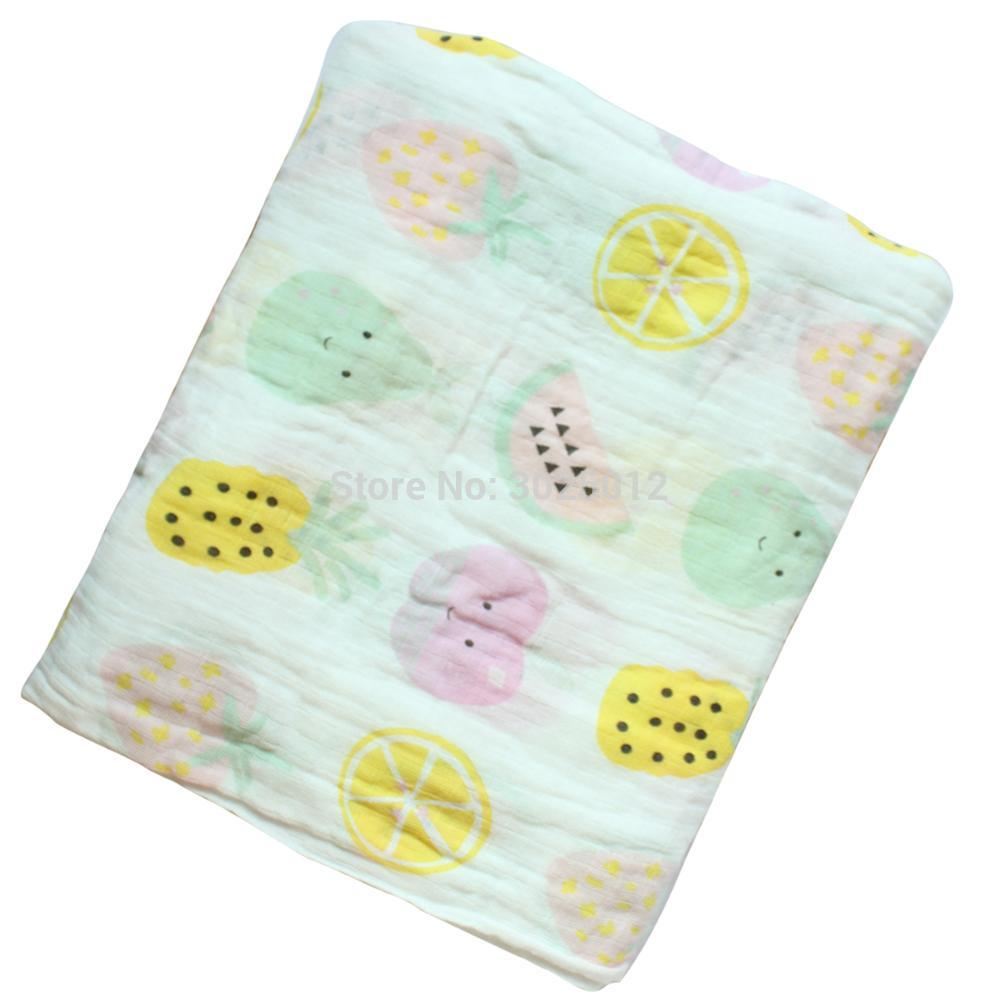 Muslin Cotton Swaddle Blanket Baby Swaddle Newborn Bath Towel Swaddle Blankets Multi Functions Baby Wrap Baby Bedding Blanket