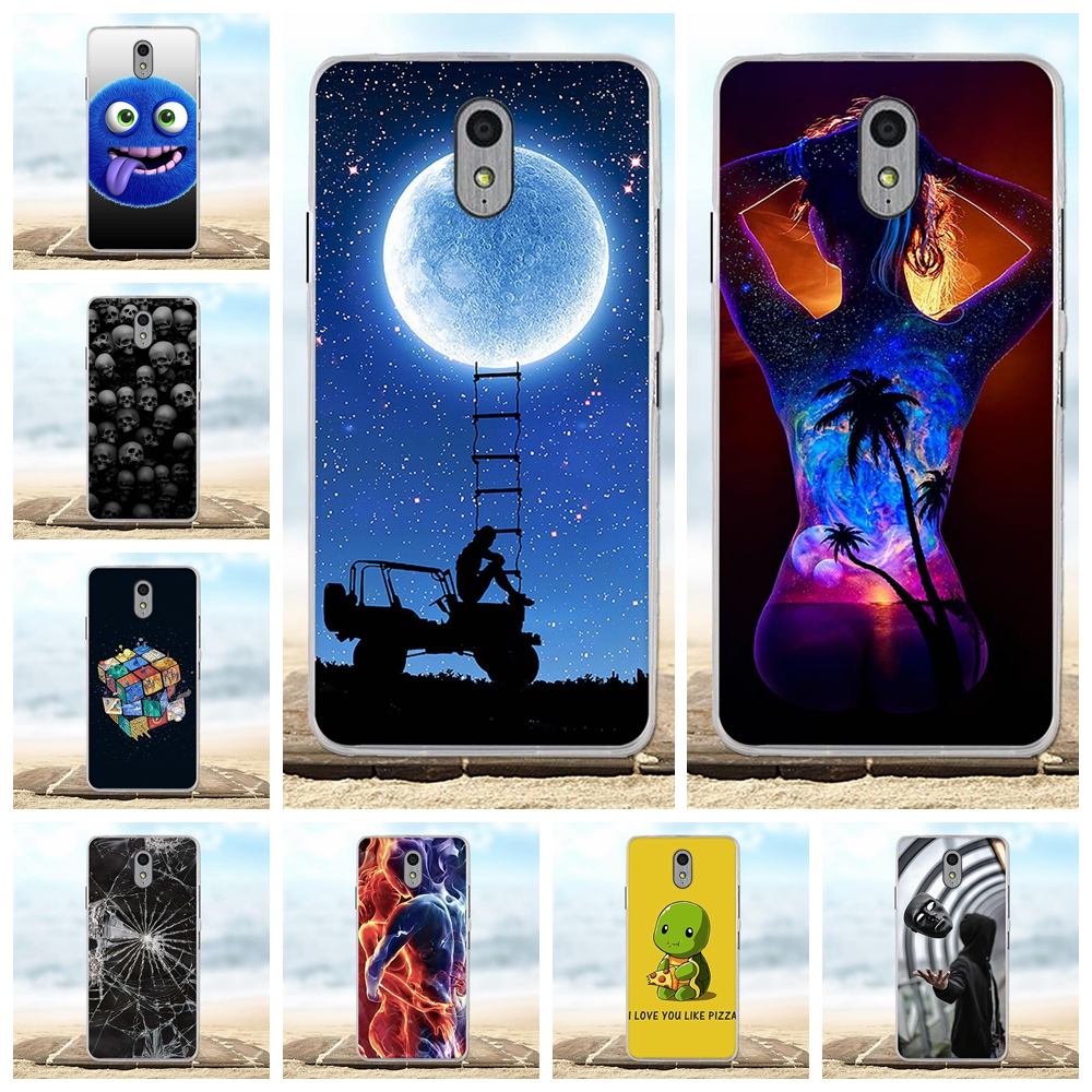For Lenovo Vibe P1m Cover Ultra-thin Soft TPU Silicone P1M Case Cartoon Patterned Shell Capa