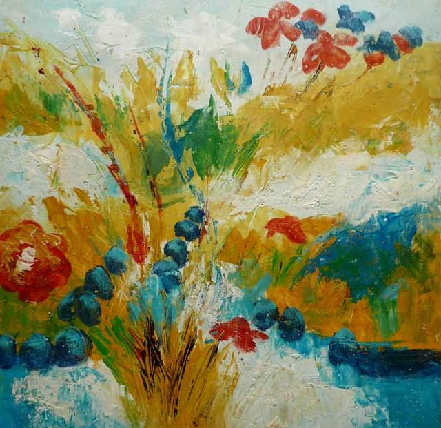 Aliexpress.com : Buy Hand Painted Abstract Oil Painting Flower Plum ...