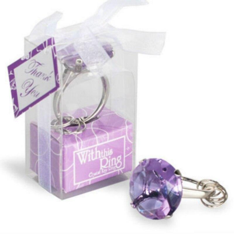 12 UNID Envío de bodas Anillo de diamante forma de llavero - Para fiestas y celebraciones - foto 3