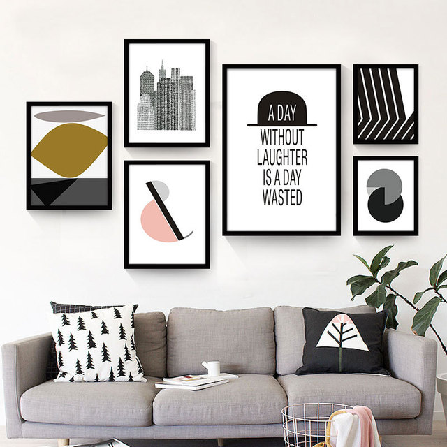 Moderne Poster abstract geometry canvas painting mural prints posters modern