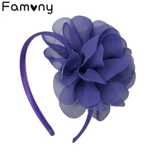 Shabby Chiffon Flowers Hair Bands For Children High Quality Headband For Girls Big Flower Hair Bow Headwear Hair Accessories