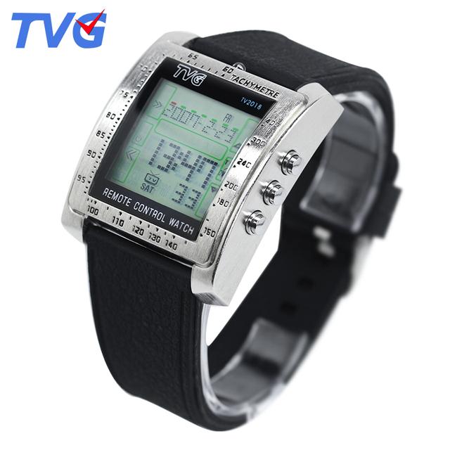 TVG Marca clássico Controle Remoto Digital Sports relógios Homens e Senhoras relógios de Pulso de Moda militar estilo TV DVD controle remoto relógio