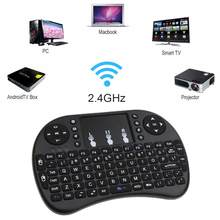 Keyboard 2.4G Hz Keyboard Nirkabel Bahasa Inggris & Gaming Keyboard Mouse Udara Terbang Mouse Gamepad Teclado untuk PC TV Teclado gamer(China)