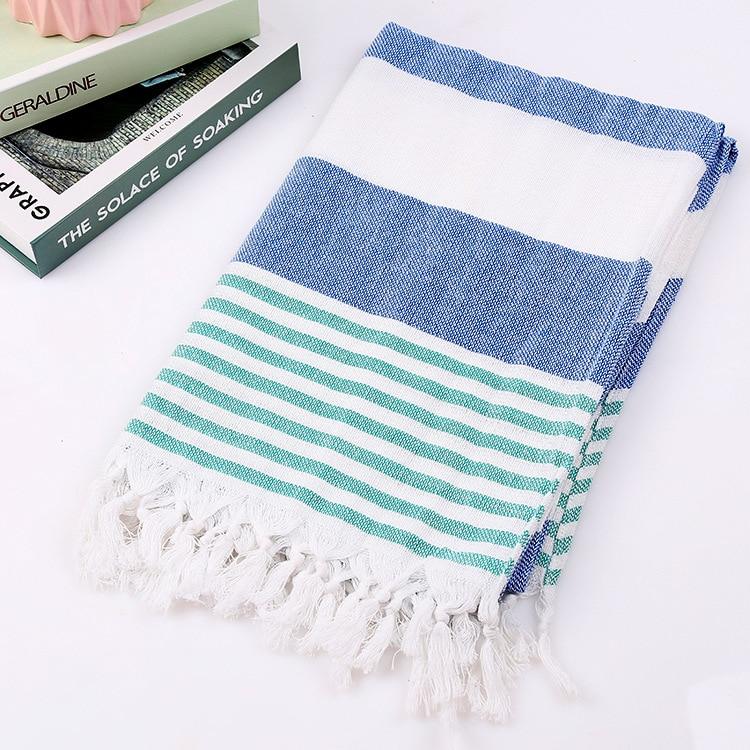 Turkish Ultra Soft Cotton Towel Peshtemal Hand Loomed Beach Bath Pestemal