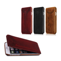Original Brand Genuine Deluxe Compact Flip Durable Bar Style Hard Leather Cover Funda Case For Iphone