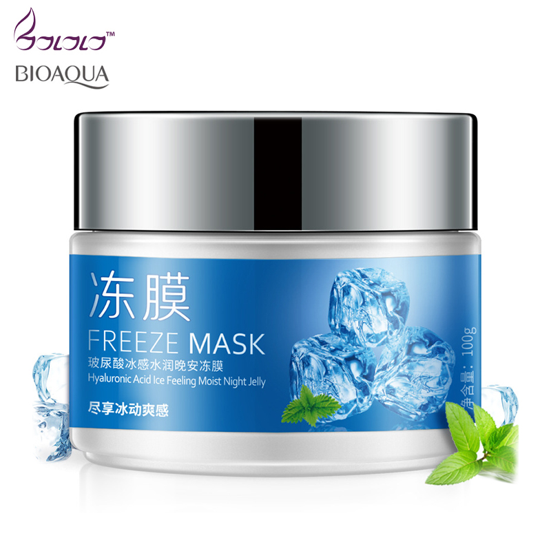 BIOAQUA freeze night mask, face care, skin care,Washable face mask, Hyaluronic acid ice feeling moist night jelly