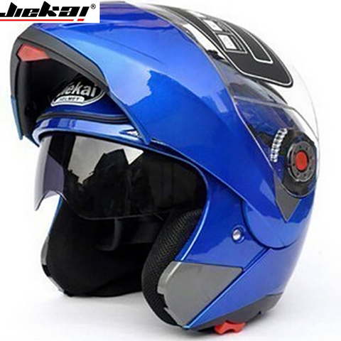 JIEKAI105 Motorcycle helmets Dual Visor Modular Flip Up Helmet Racing Motocross Helmets DOT ECE Sticker M-XXL Motorcycle Helmet Karachi
