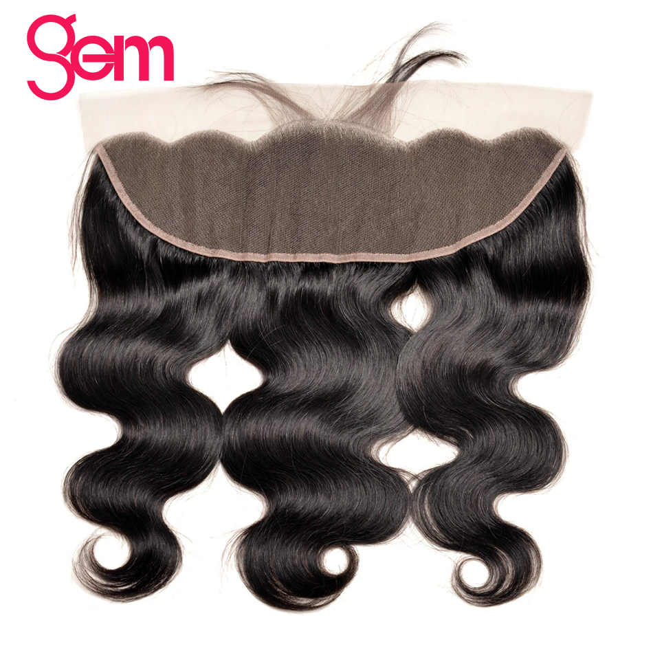 Brazilian Body Wave Frontal 13x4 Pre Plucked Full Lace Frontal Closure With Baby Hair GEM Beauty