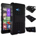 Heavy Duty Defender Hard Plastic Case With Silicon Cover With Hybrid Armor Kick Stand For Microsoft Nokia Lumia 540 Case