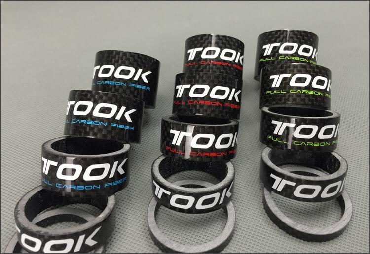 Full Carbon Headset Bike Front Fork Ring Cushion Set Handlebar Stem Ring Cushion