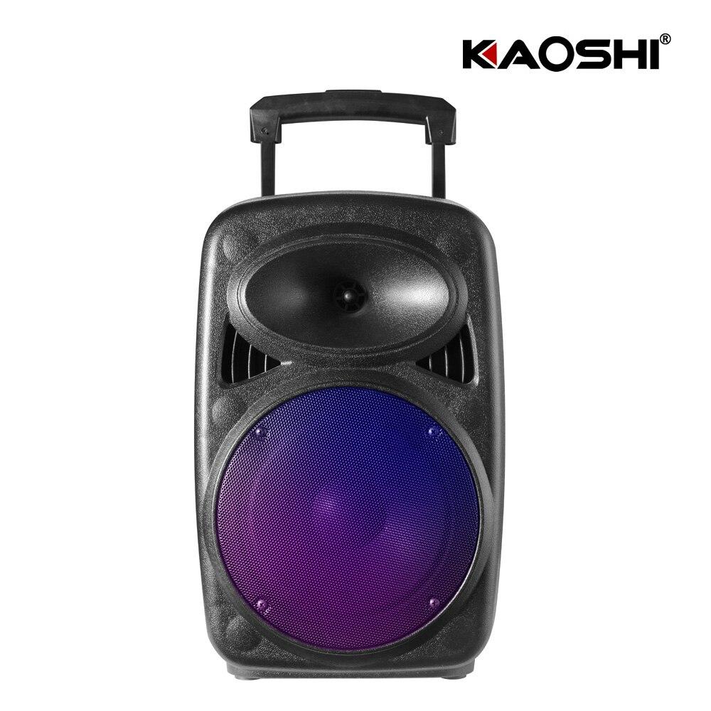 Kaoshi 8 inch square dance speaker lever speaker outdoor Bluetooth portable subwoofer power mobile loudspeaker with lantern
