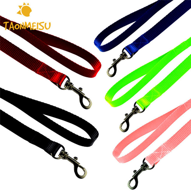 120cm Long Nylon Pet Puppy Dog Leash Lead Daily Walking For Pet Dog 5 Colors High Quality Leashes Leading  Drop Shipping