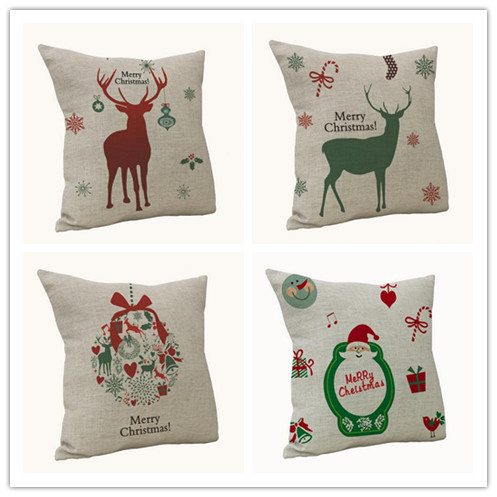 New Arrive Christmas Decorations For Home Vintage Christmas Letter Sofa Bed Pillow Decoration