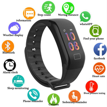 F1 Plus Color Lcd Screen Fitness Tracker Sleep Tracker Smart Bracelet Heart Rate Monitor Waterproof Smart Watch Activity Tracker fitness tracker sleep tracker smart bracelet heart rate monitor waterproof smart watch activity tracker