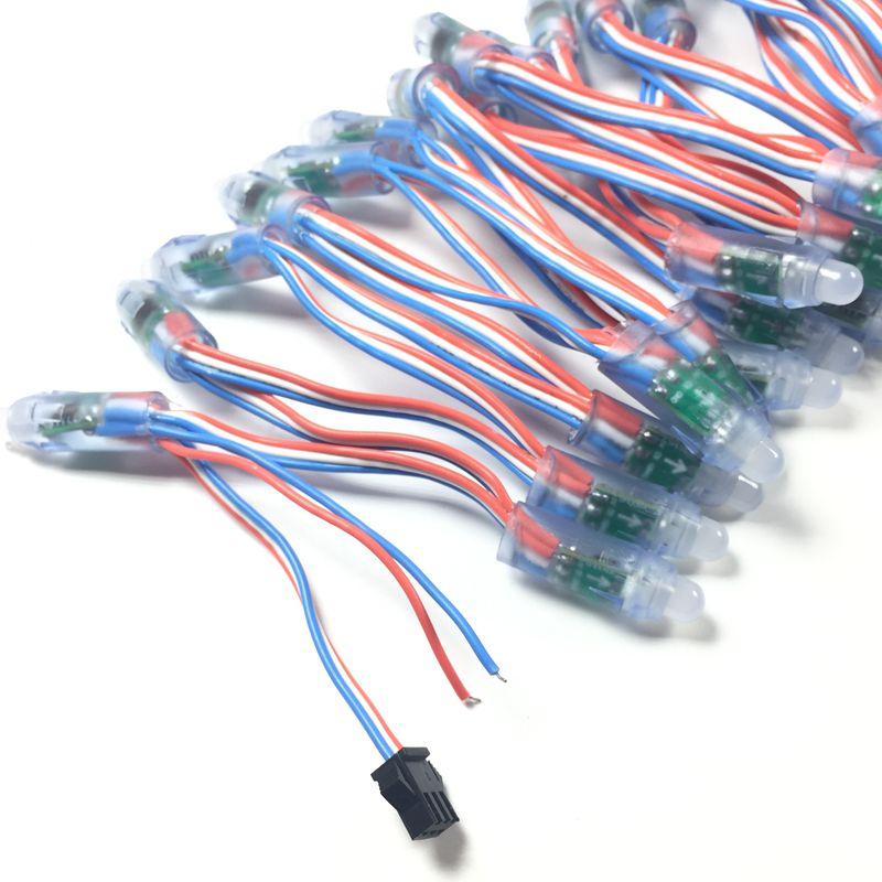 5 В 12 мм LED WS2811 Pixel Модуль 50node/строка цифровой rgb полноцветный водонепроницаемый IP68 светодиодные строки для буквы знак