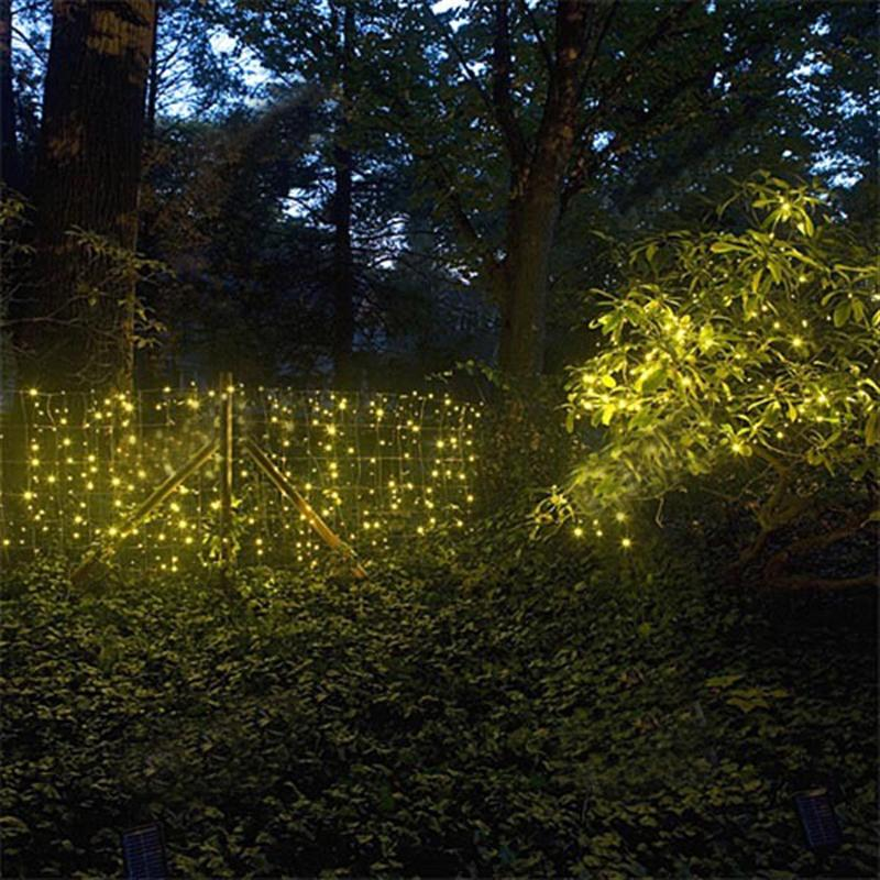 10M 220V 8-Mode 100-LED String Lights Decorative Lamps for Christmas/ Wedding/ Party/ Garden (Yellow Light)