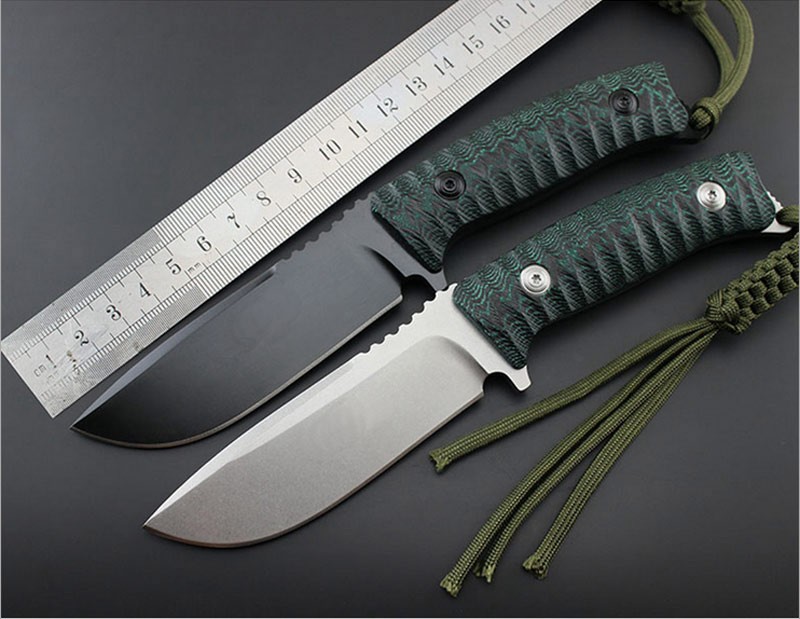 Brave Fighter 58 60HRC D2 blade Micarta handle fixed knife outdoor camping survival tool tactical utility