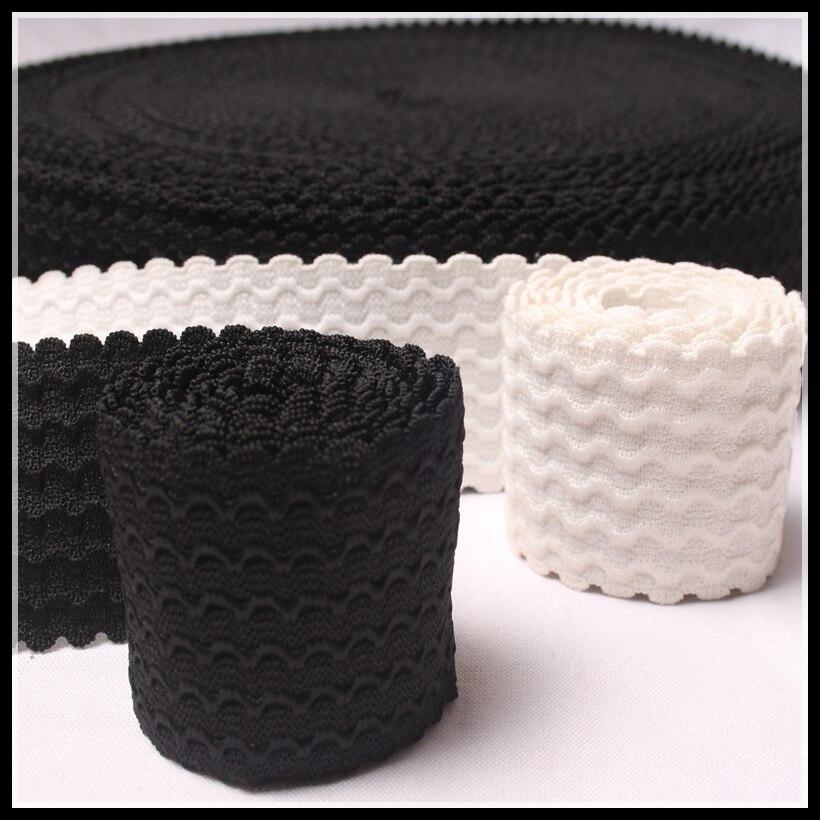 6yard/lot 60 мм ширина одежда эластичные белый черный кружевной отделкой стрейч чистая кружевной ленты для волос аксессуары швейных материалов ...