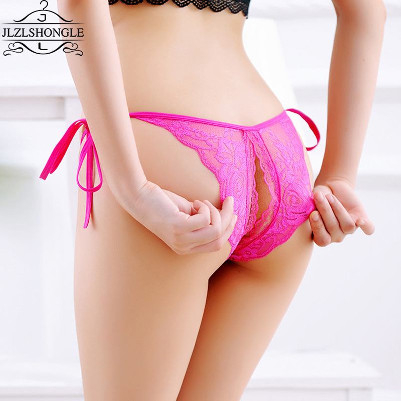 Sexy Women Lace Open Back Crotch Sexy Panties transparent  Hollow Panties Briefs Underwear G String New Arrival