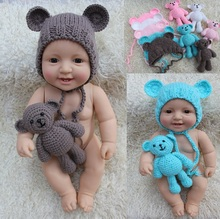 Free shippingNewborn hat and little bear cute cartoon photo gift girls boys
