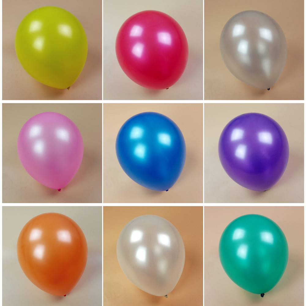 Thicken 12 inch 2.8 g 100 pcs / lot 100% Latex Round Pearls Silver Balloons wedd