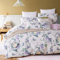 top grade luxury 1200TC Egyptian cotton satin fashion flower printed hotel bedding set duvet cover set bedclothes bed sheet set