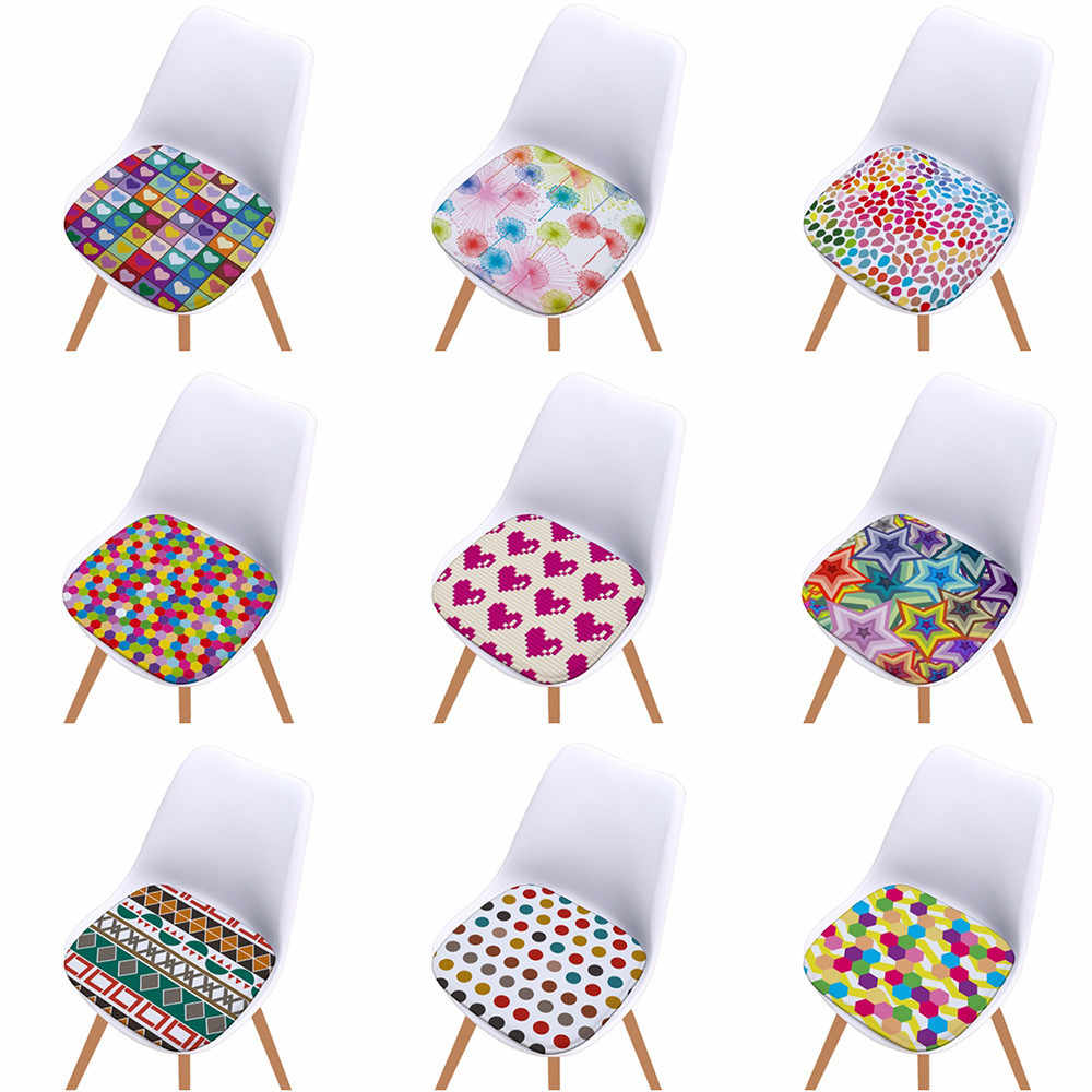Printed Cotton Seat Pad Outdoor Dining