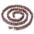 5mm Stainless Steel Mens Necklace, Bronze, Heavy HN164