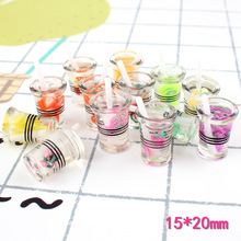 10pcs/lot Resin  fruit cup Decoration Crafts Kawaii Flatback Cabochon Embellishments For Scrapbooking DIY Accessories Butto