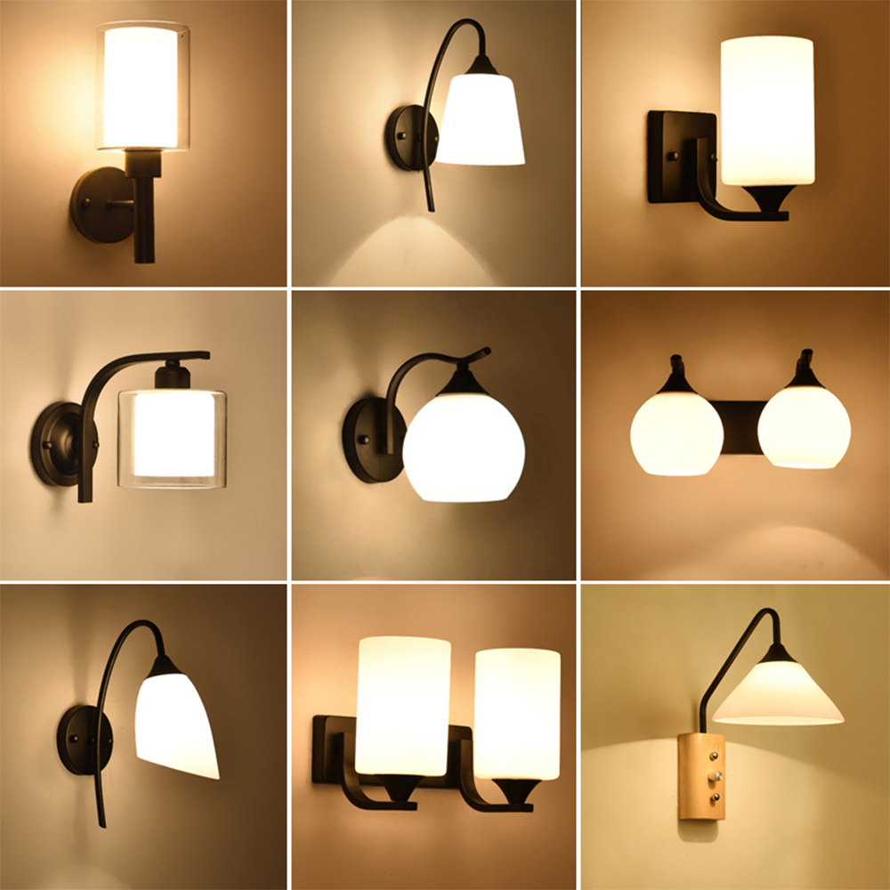 HGhomeart Vintage Wall Lamp Luminaria 110V-220V Bedside Reading Lamp Wall Light Bedroom Wall Lighting Contemporary Retro Lamp