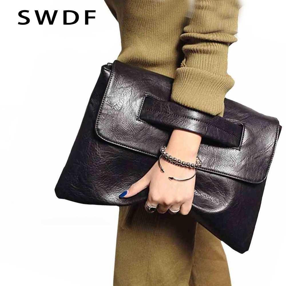 SWDF Neue Mode Frauen Umschlag Kupplung Tasche Leder Frauen Umhängetaschen Frauen Trend Handtasche Umhängetasche Weibliche Damen Kupplungen