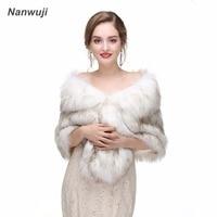 Bridal Shawl Fur Stole Faux Fur Wrap Evening Dress Bolero Wedding Cape Wedding Shawl Fur Cape 2018 Winter Bridal Cloak Bolero