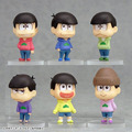 6 pcs/set Anime Osomatsu-san figures Osomatsu,OSO,KARA ,CHORO,ICHI,JYUUSHI,TODO  figure pvc doll toys free shipping