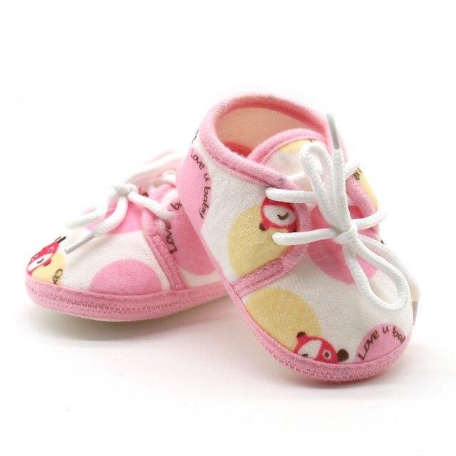Для новорожденных на осень для маленьких мальчиков Обувь для девочек прекрасный мультфильм Обувь для малышей детские унисекс мягкая подошва хлопок Ткань Обувь