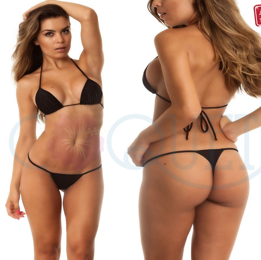 0cd2dad94 2018 Sexy Micro Mini Bikini Set Thong Beachwear Women Transparent Swimwear