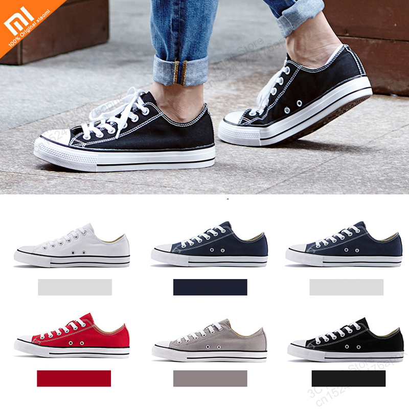 Xiaomi Mijia Mens and womens spring summer canvas shoes low to help casual students couple board shoes sports Flats shoesXiaomi Mijia Mens and womens spring summer canvas shoes low to help casual students couple board shoes sports Flats shoes