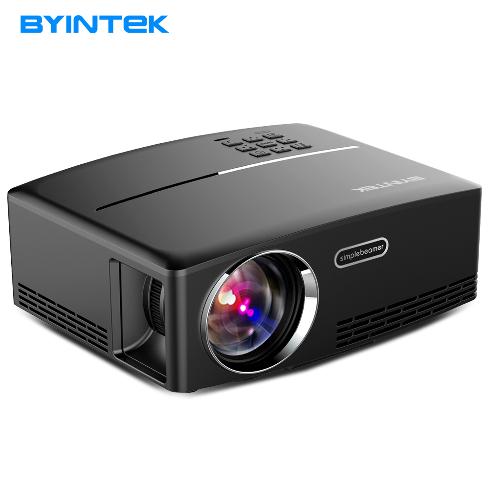 BYINTEK Brand GP80 Home Theater Portable HDMI USB 1080P HD UL Cinema Mini LCD LED PC Video Projector Beamer 2017 Proyector ls1280 entertainment home theater projector hybrid laser led led lights high lumens beamer home cinema 23 languages pk xgimi