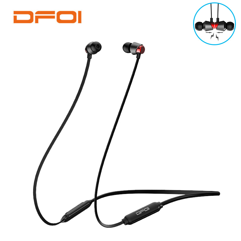 DFOI Bluetooth Earphones Wireless Sport Headphones Waterproof Headphone IPX5 Neckband Stereo Earphone Headset With Mic For phone все цены