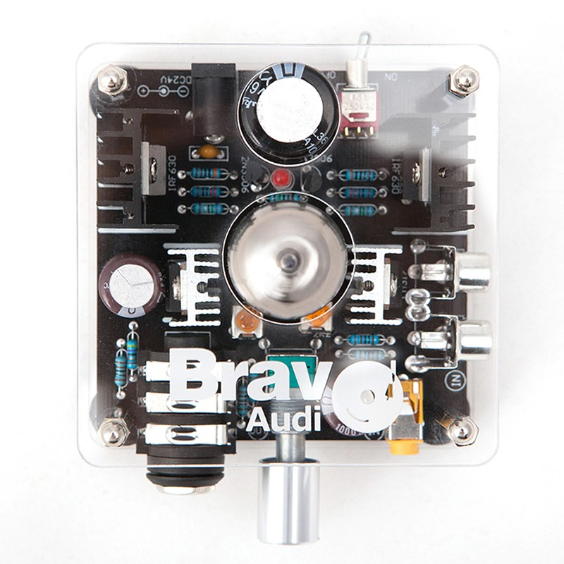 Bravo Audio V1 Valve Class A Russian EH 6922 Tube Headphone Amplifier preamp Audio connected IPHONE MP3 MP4