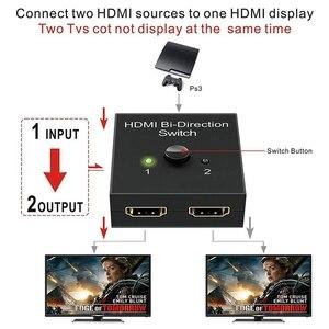 Image 3 - 4K UHD HDMI Splitter HDMI Switch Switcher 1X2 2X1 Split 1 in 2 Out Amplifier 1080P 4Kx2K HDMI Switcher 2 Ports Bi directional