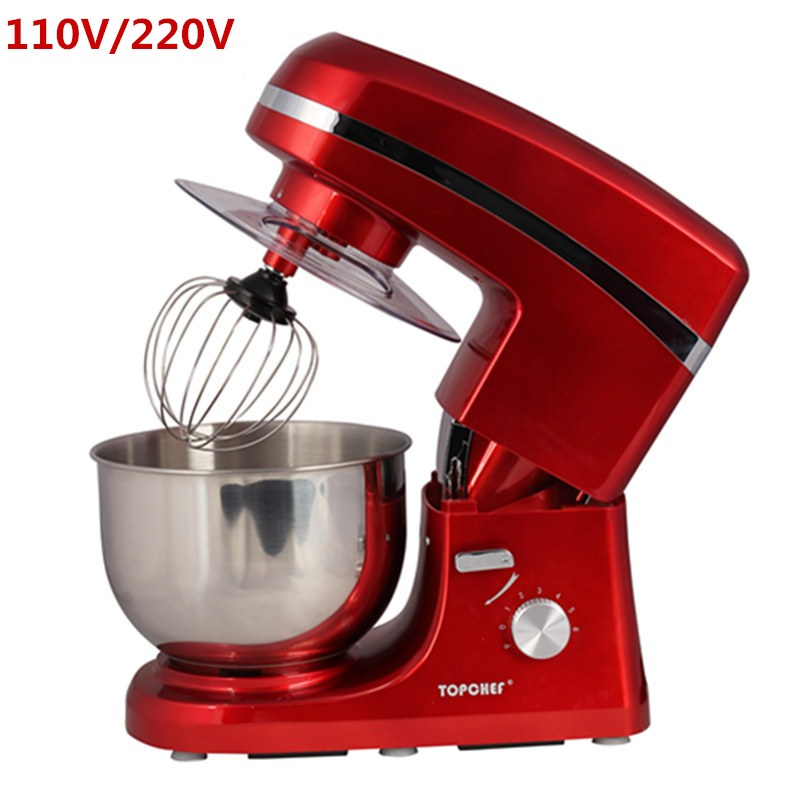 Home Use 5 Liters Electric Food Mixer Commercial 6 Speed Tilt-Head Stand Mixers Eggs Beater Cake Dough Mixing Machine 220V new multi functional dough mixing machine electric dough mixer small automatic food mixers egg beater commercial chef machine