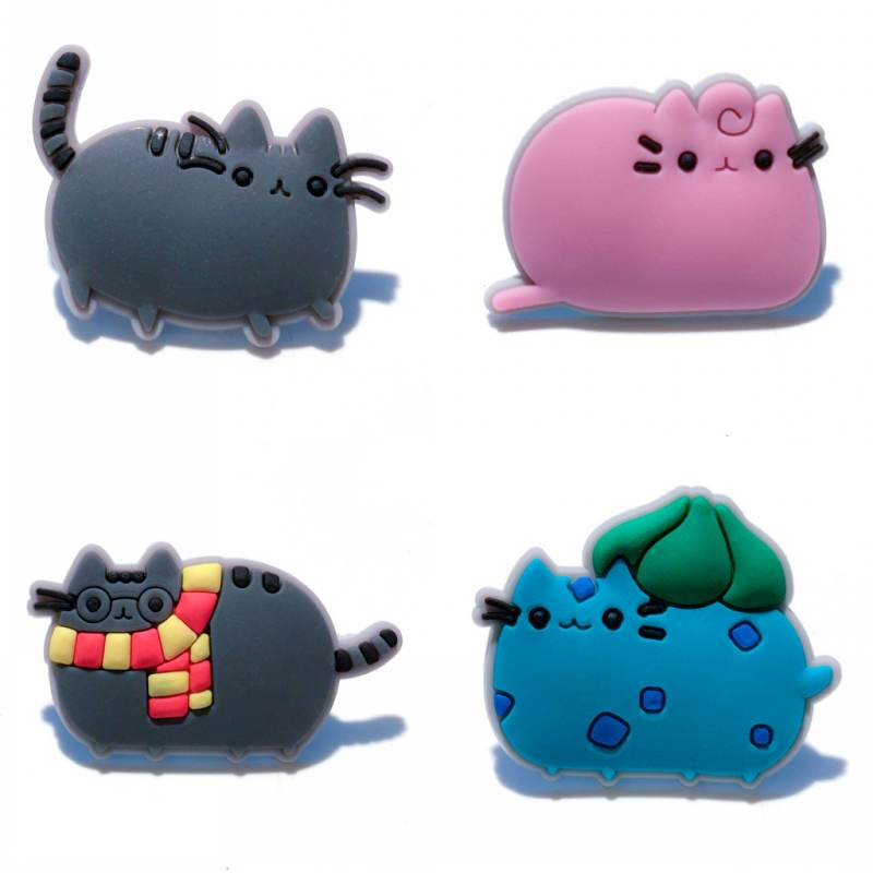 1pcs Cartoon Pusheen PVC Magnetic Fridge Blackboard Magnets Stationery Stickers For Office Supplies party Favors Home Decoration greeting word style fridge magnets 4 pack