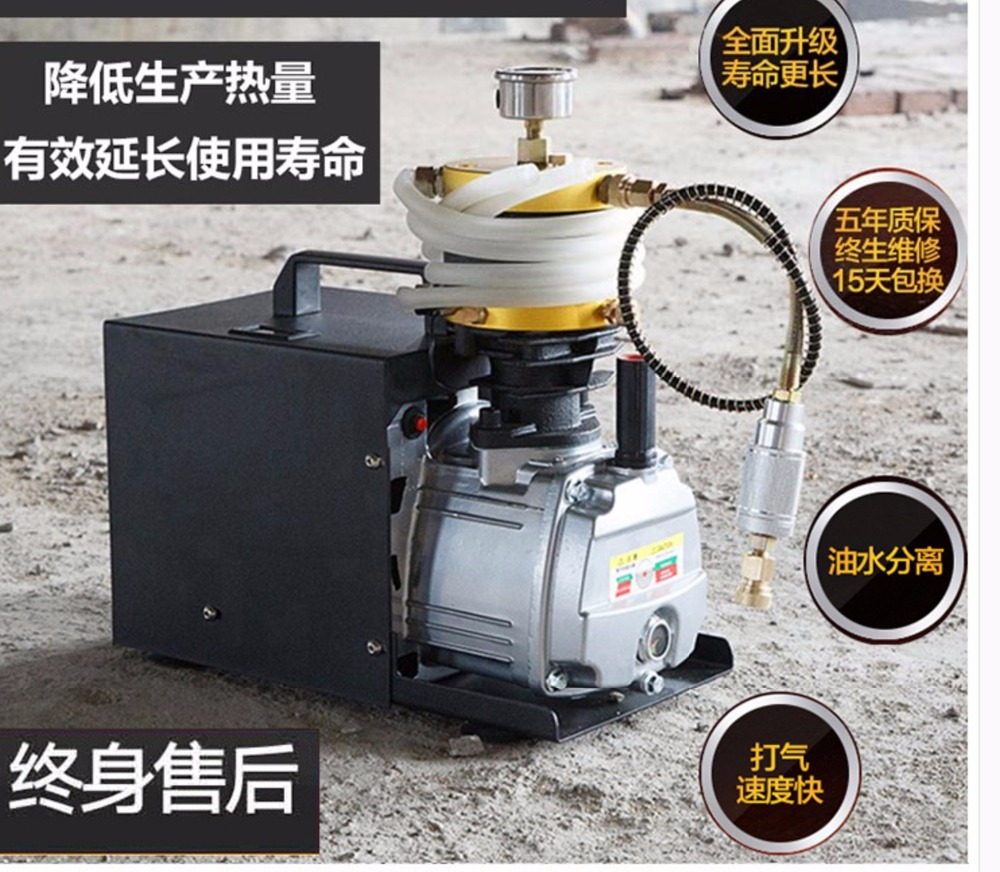 Adjustable Stop Ex Proof PCP 4500psi Electric air pump paintball air compressor for Pneumatic Airgun Scuba Rifle PCP Inflator